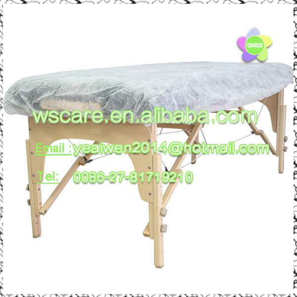 Disposable bed sheet /disposable massage table cover /physical check-up couch nonwoven cover