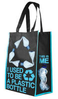 rpet bag/made from recycled plastic bottles/recycled PET shopping bag