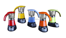 NEW ! Aluminum cordless electric Italian coffee maker CE GS approved