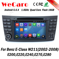 Wecaro WC-MB7501 Android 4.4.4 car dvd player touch screen for mercedes w211 car audio 2002 - 2008 bluetooth