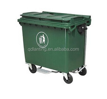 660 litres cheap kitchen food wheeled rectangular waste bin