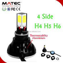4sides 12V Motorcycle headlight led for moto H4 H6 H7 ,motorcycle round headlight