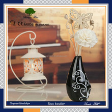 50ml Fashion air freshener Wholesale best home fragrance from OEM factory oil Reed Diffuser with rattan and flower .