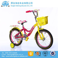 OEM ODM available price children bike / 20 inch kids sport bicycle with basket / Mini Carbon Road child bicycle for girls