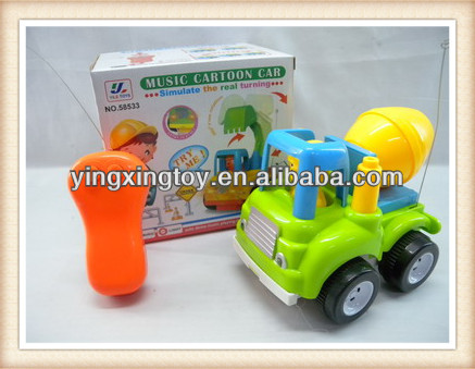 Hot sell plastic toy 2ch remote control truck
