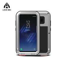 Love Mei for Samsung Galaxy S8 Plus case waterproof aluminum metal water proof case mobile phone case phone cover