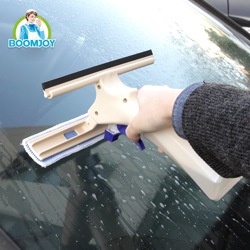 Super clean Instant misting TPR rubber microfiber car cleaner/ window squeegee