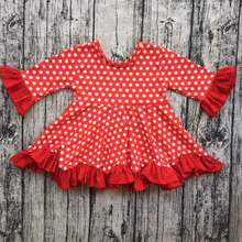100% cotton baby girl clothes polka dot long sleeve dress with casual frock designs pictures wholesale baby girl dresses