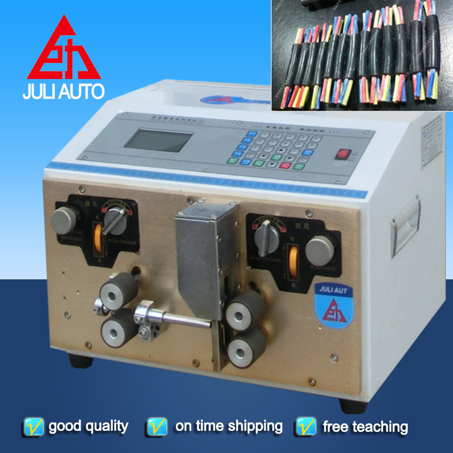 Jacket wire Sheathed cable Multicore Wire Cutting And Stripping Machine