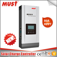 MUST 12v 24v 48v 80a solar charge controller mppt with overcharge protection 60a 50a 40a 30a