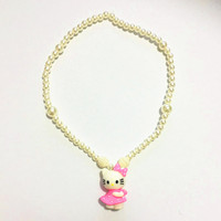 Children necklace HELLO KITTY beads necklace