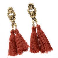 Bohemian tassel earrings hanging drops for women statement earrings green vintage dangle earring jewelry