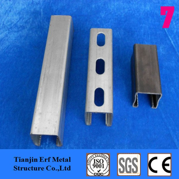 Factory directly China metal 12 gauge slotted c channel profile support solar panel