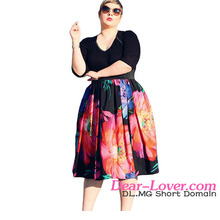Wholesale Solid Fat Women Clothes Curvier Lady Dress