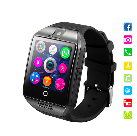 Shenzhen Manufacturer Q18 Free Sample private label Digital SOS Kids smart watch with GPS Bluetooth WhatsApp Facebook