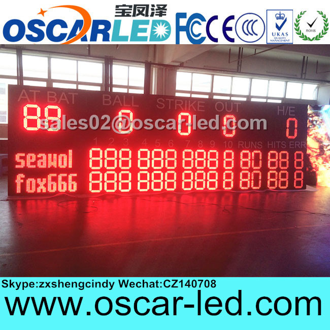 Tennis /baseball score board stadium led screen stadium sport led display/stadium score led display