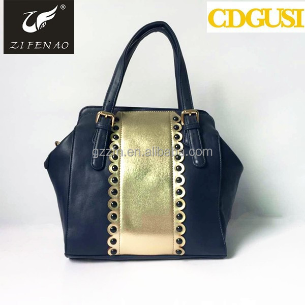 Fashion cheap lady PU shoulder unique bling handbags