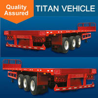 40 Feet Flatbed Plate Semi Trailers With Container Locks