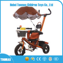 High Quality cheap steel frame kids three wheel bike 3 in 1 baby stroller tricycle