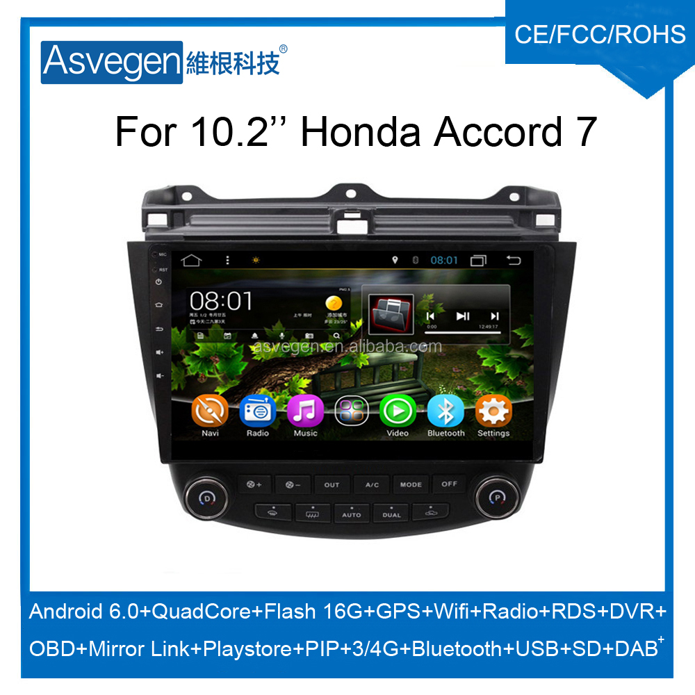 Wholesale Android Car GPS 10.2inch For Honda Accord 7 Navigation Video player Support DAB+,Playstore,Wifi,Mirror Link