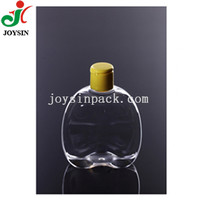 Empty Body Lotion Container BPA Free Custom Cosmetic Flat Squat Clear PET Plastic Bottle 300ml 10oz with Flip Top Cap 24/410