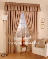 polyester jacquard drapes and cloth curtains with valance