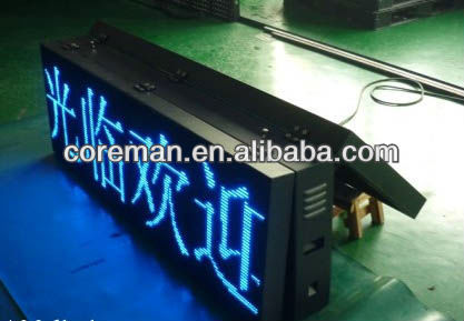 Coreman Technology double sided cabinet for p4,p5,p6 single color message dentist led sign