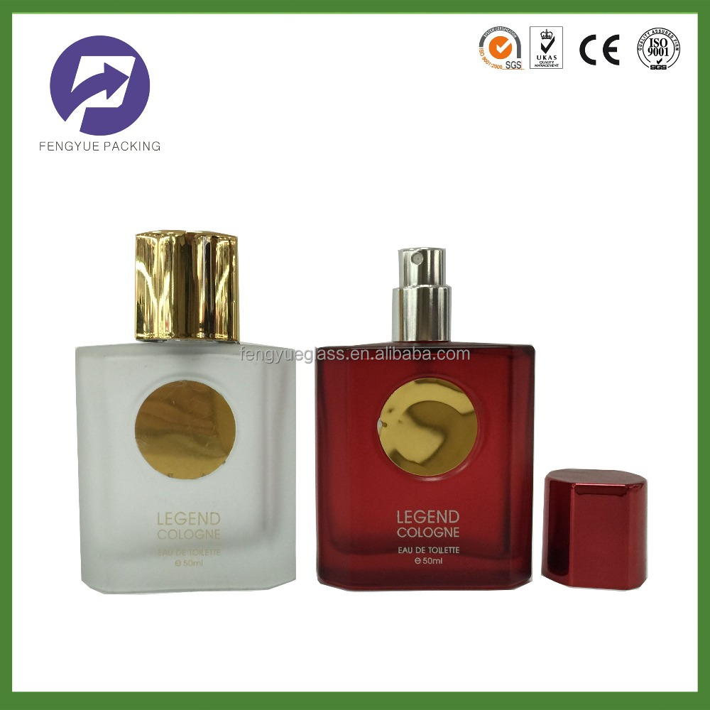 UV Process Glass Perfume Bottle 50ml With Special Cap