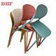 Wholesale DHF modern plastic chair dining, cafe furniture chair for outdoor