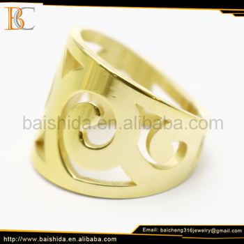 big fancy saudi gold rings mens jewelry without stone