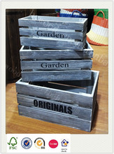 decorative shabby garden vintage wooden wine fruit vegetable crate for display