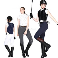 silica gel leather horse riding jodhpurs for ladies