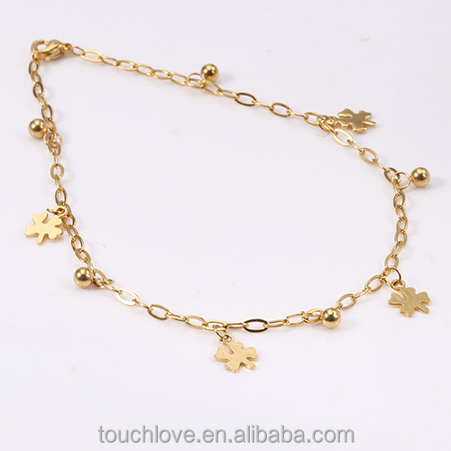 A2010 wholesale traditional indian jewelry anklets, gold anklets