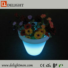 Cheap waterproof illuminated RGB remote control balcony flower pots for bar