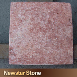 China popular natural marble red travertine