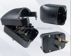 Quality germany to uk fuse adapter plug,male to male electrical plug adapter,Euro to BS1363 power converter 13A