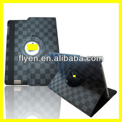 Latticework Style Ultra Thin Smart Cover 360 Leather for ipad Case Strong Magnets New Product Manufacture Wholesale