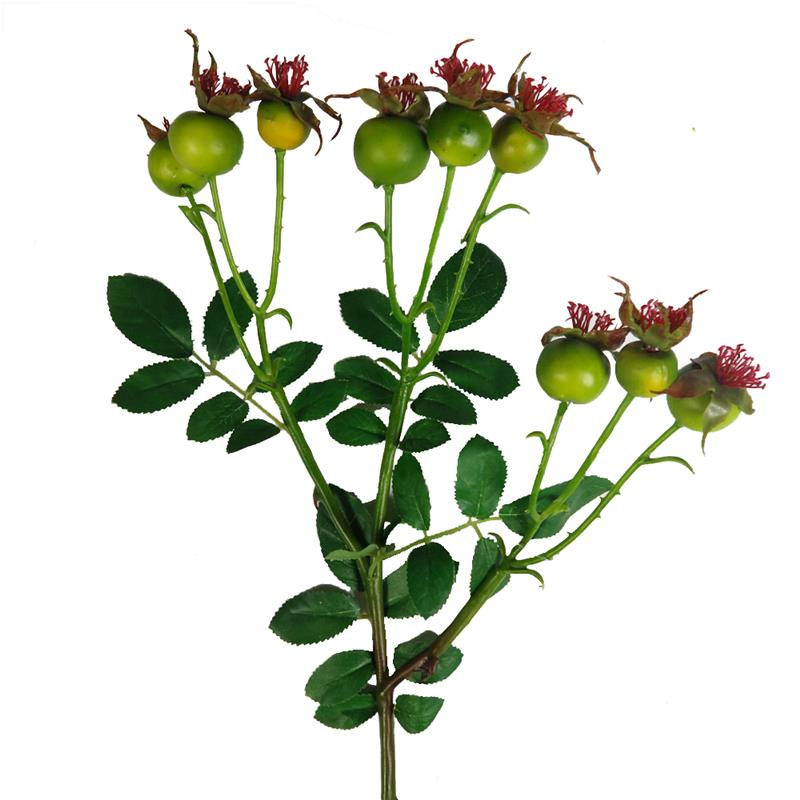 Silk Flower Rose Hip Artificial rose hip tree branches for centerpieces