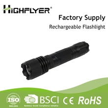 Highflyer high power aluminum alloy led torch flashlight with powerbank