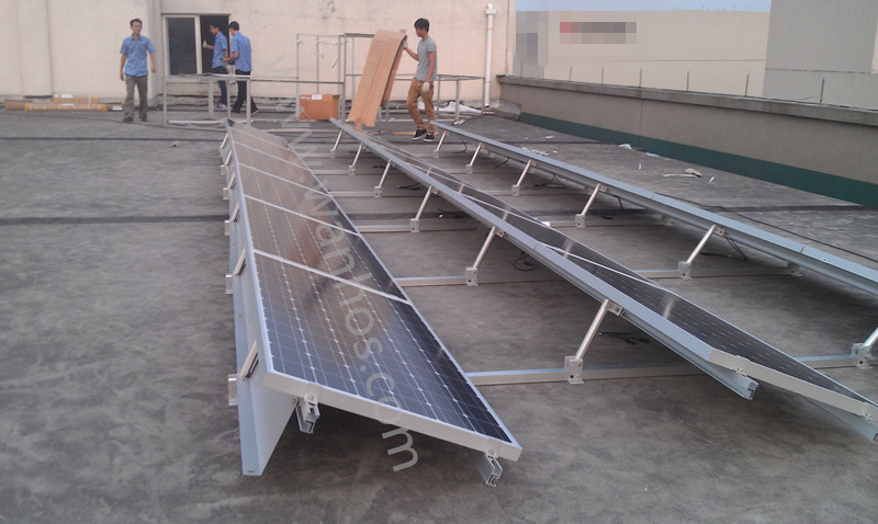 Ballasted solar racking mounting system for flat roof, pv ballast mount