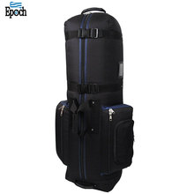 Wholesale durable heavy duty lockable zippers waterproof golf bag with wheels in bulk