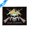 Skull military adhesive back embroidery patches, crest patch/ arm patch/ hat patches