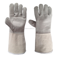 14 inches Natural color work glove with canvas sleeve