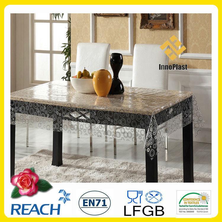 Nappe pvc transparent en plastique pais image nappe de table id de produit 500004093983 french - Nappe plastique transparente pour table ...