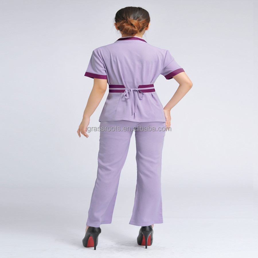Wholesale new style salon women spa custom 100cotton spa for Spa uniform cotton