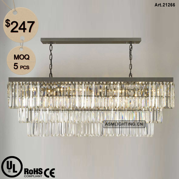 Chandelier Lighting Modern with Clear Crystal