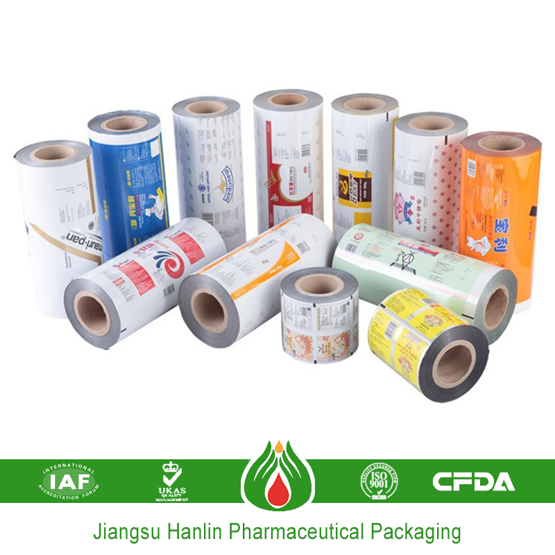 Composited plastic film pack for pills packaging