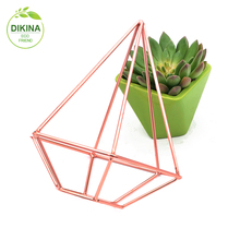 - Desk organiser - Home Decor - Succulent Plant pot - wedding centerpiece living room brass metal display stand for flower