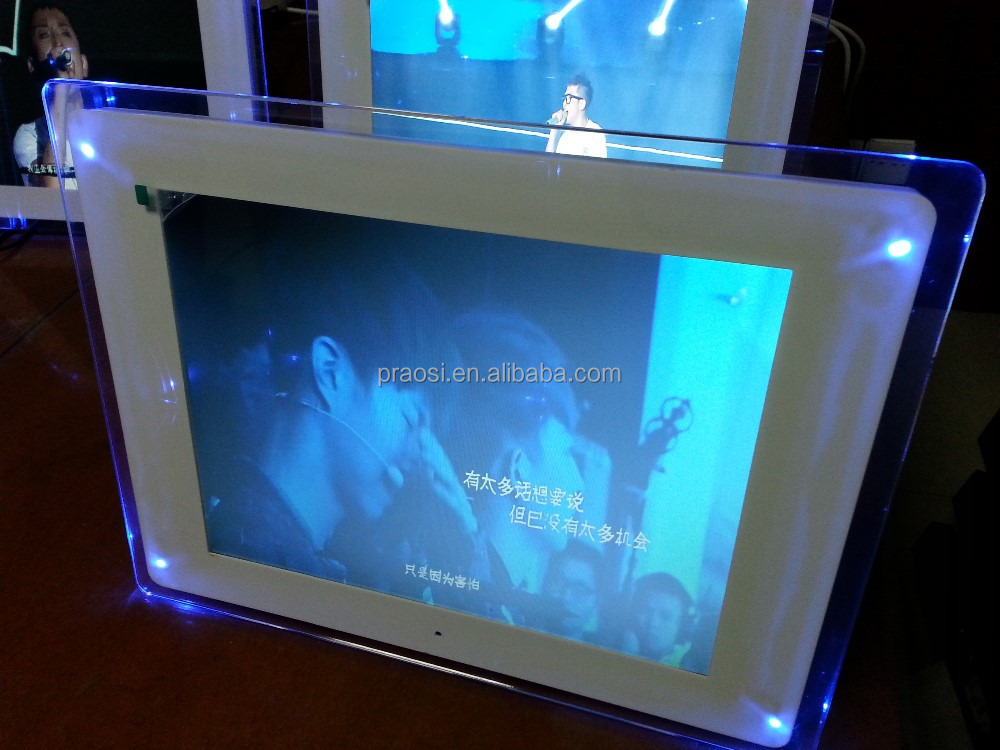 "OEM 12"" car advertising digital photo frame"