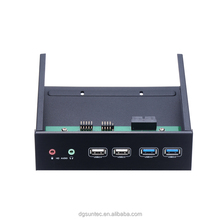 HUB 2*USB 3.0 port and 2*USB2.0 port and 2*HD Audio microphone Port for 5.25in optical pc bay with aluminum panel
